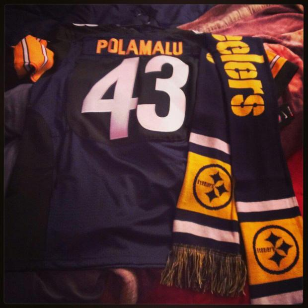 My first Steelers Jersey, and a Steelers scarf!