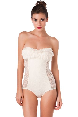Nothing wrong with a totally feminine white one piece, either! Photo Credit: Google images