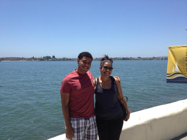 """Little"" Bro and I at Seaport Village"