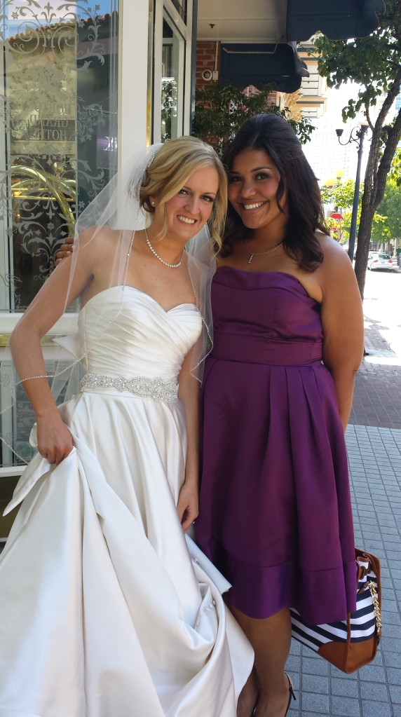 The  GORGEOUS Bride and I outside the hotel, right before we headed to the ceremony site!! AHHH!