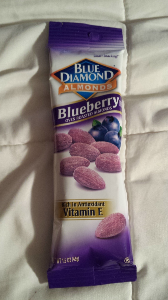 Blue Diamond Fruit Flavored Almonds in Blueberry