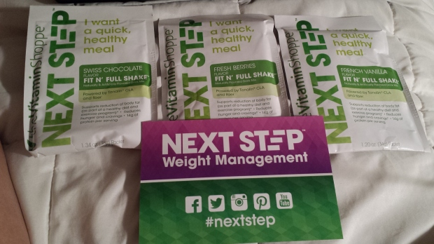 "The Vitamin Shoppe ""Next Step"" Weight Management Program goodies!"