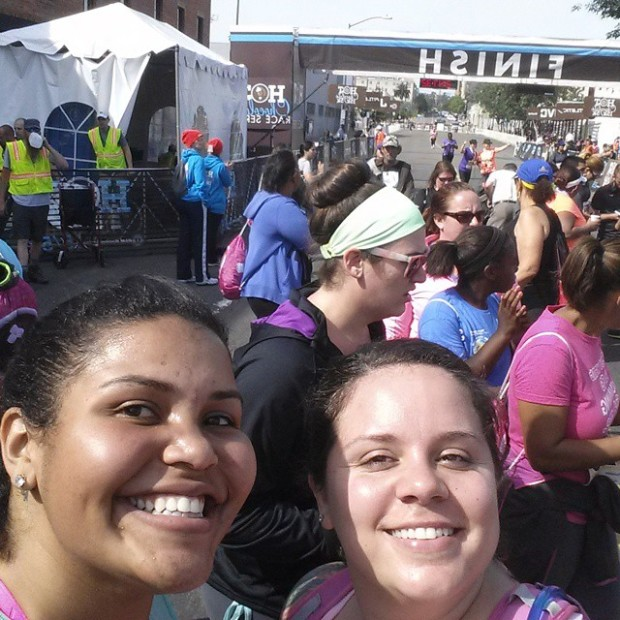 Past the finish line with Kalyca! WE DID IT!